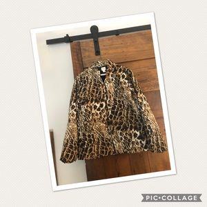 Chico's leopard print slick coat